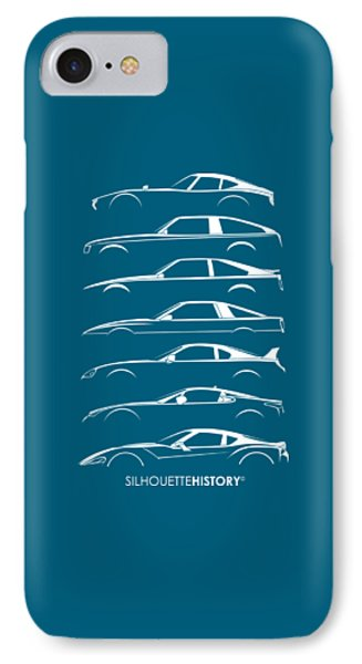 Japanese Sports Car Silhouettehistory IPhone Case by Gabor Vida