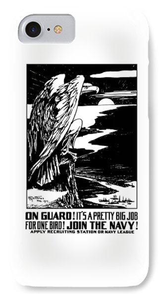 On Guard - Join The Navy IPhone Case by War Is Hell Store