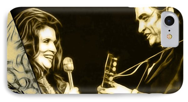 June Carter And Johnny Cash Collection IPhone Case by Marvin Blaine