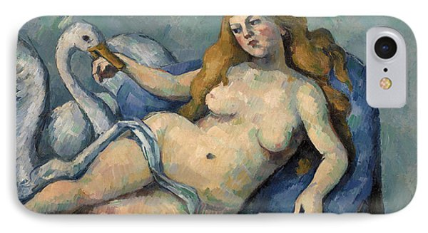 Leda And The Swan IPhone Case by Paul Cezanne
