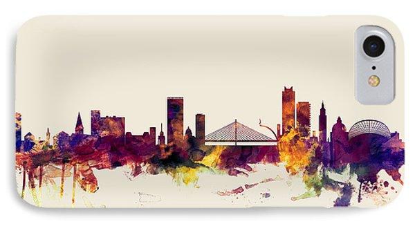 Liege Belgium Skyline IPhone Case by Michael Tompsett