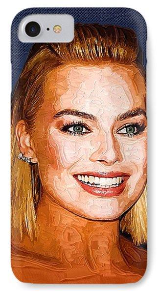 Margot Robbie Art IPhone Case by Best Actors