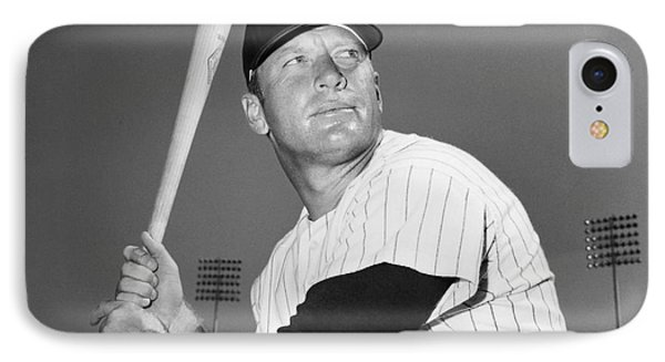 Mickey Mantle (1931-1995) Phone Case by Granger