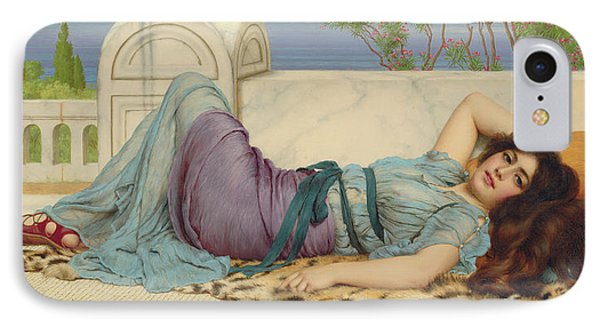 Mischief And Repose IPhone Case by John William Godward