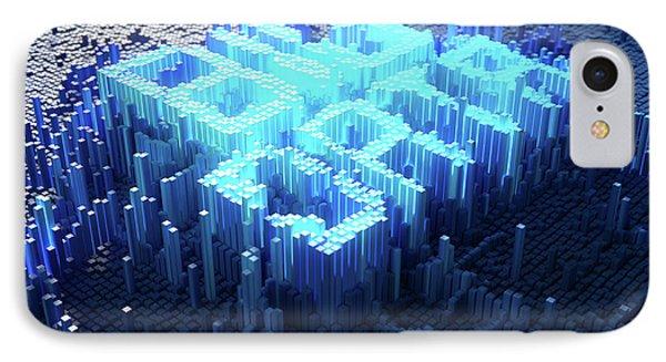 Pixel Big Data Concept IPhone Case by Allan Swart