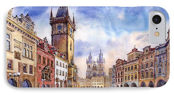 Prague Old Town Square IPhone Case by Yuriy  Shevchuk