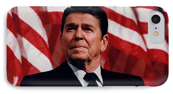 President Ronald Reagan IPhone Case by War Is Hell Store
