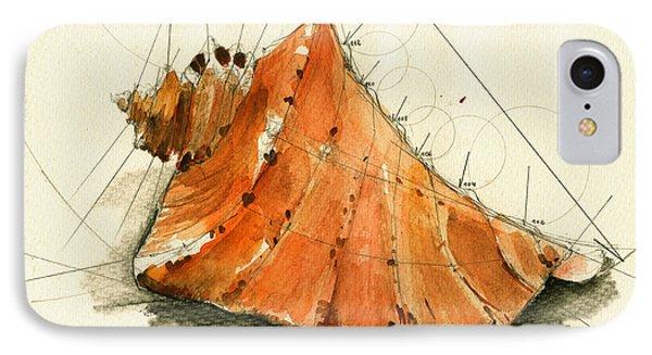 Seashell Art Painting IPhone Case by Juan  Bosco
