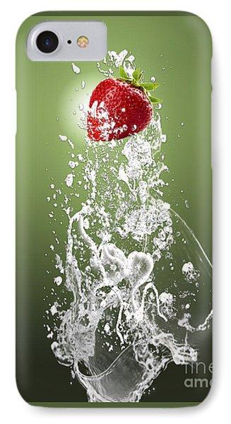 Strawberry Splash IPhone Case by Marvin Blaine