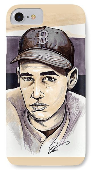 Ted Williams IPhone Case by Dave Olsen