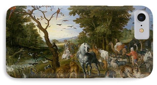 The Entry Of The Animals Into Noah's Ark IPhone Case by Jan Brueghel the Elder