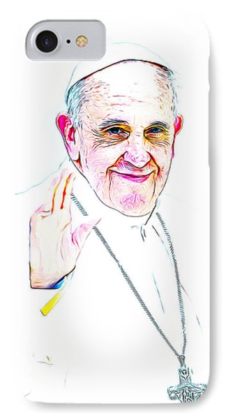 The Pope IPhone Case by Munir Alawi