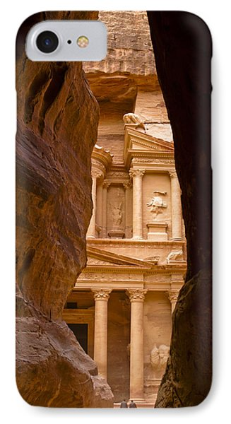 The Treasury Of Petra Phone Case by Michele Burgess