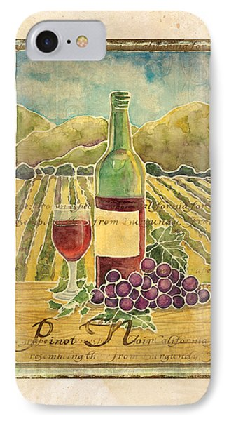 Vineyard Pinot Noir Grapes N Wine - Batik Style IPhone Case by Audrey Jeanne Roberts