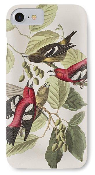 White-winged Crossbill IPhone 7 Case by John James Audubon
