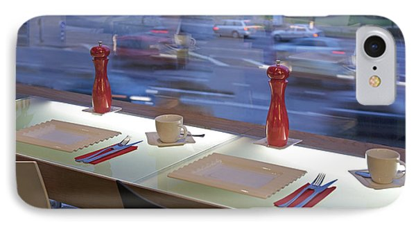 Window Seating In An Upscale Cafe Phone Case by Jaak Nilson