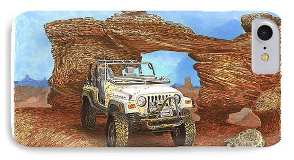 2005 Jeep Rubicon 4 Wheeler Phone Case by Jack Pumphrey