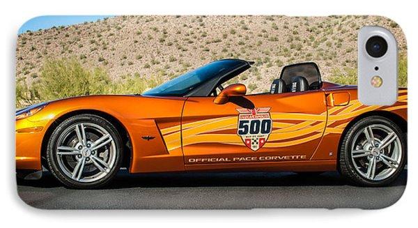 2007 Chevrolet Corvette Indy Pace Car -0003c2 IPhone Case by Jill Reger