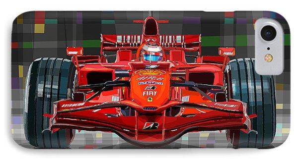 2008 Ferrari F1 Racing Car Kimi Raikkonen IPhone Case by Yuriy Shevchuk