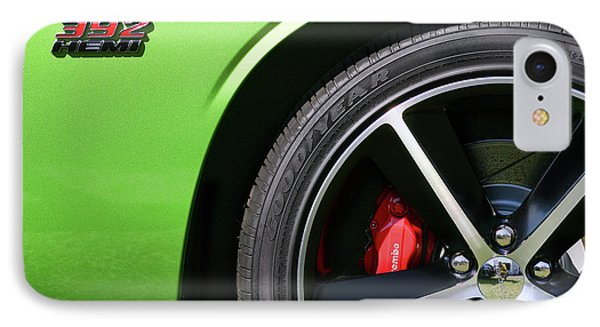 2011 Dodge Challenger Srt8 392 Hemi Green With Envy IPhone Case by Gordon Dean II