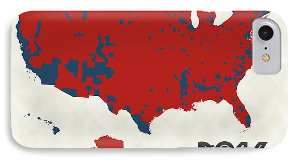 2016 Election Results IPhone 7 Case by Finlay McNevin