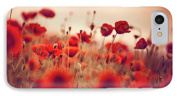 Summer Poppy Meadow IPhone Case by Nailia Schwarz