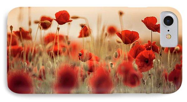 Summer Poppy Meadow IPhone Case by Nailia Schwarz