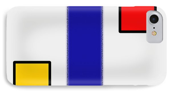 Abstract Composition 06 Piet Mondrian Style IPhone Case by Celestial Images