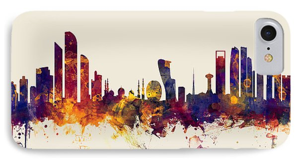 Abu Dhabi Skyline IPhone Case by Michael Tompsett