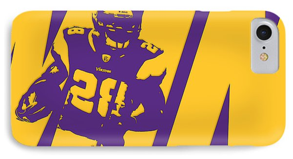 Adrian Peterson Minnesota Vikings IPhone Case by Joe Hamilton