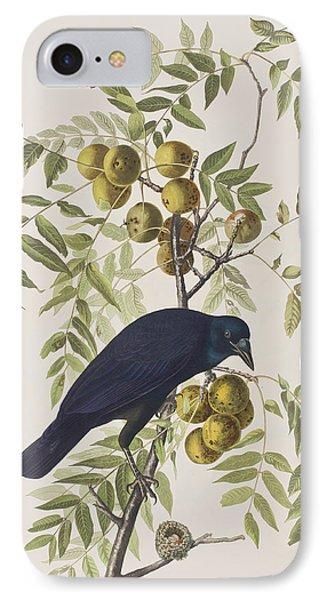 American Crow IPhone 7 Case by John James Audubon