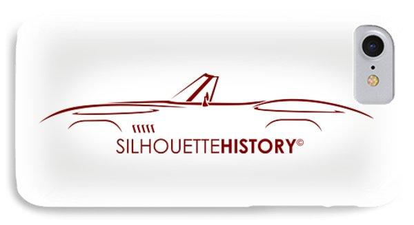 American Sports Cabrio Silhouettehistory IPhone Case by Gabor Vida