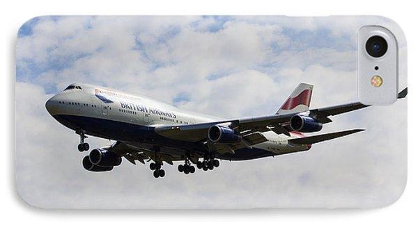 British Airways Boeing 747 IPhone Case by David Pyatt