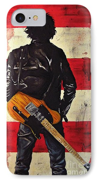 Bruce Springsteen IPhone 7 Case by Francesca Agostini