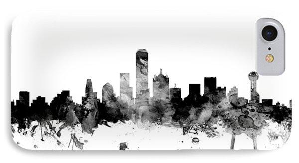 Dallas Texas Skyline IPhone Case by Michael Tompsett