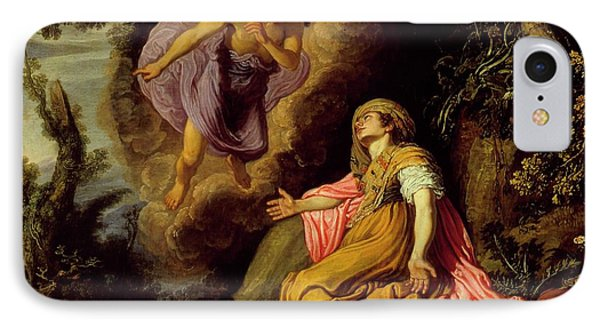 Hagar And The Angel IPhone Case by MotionAge Designs