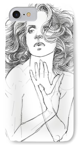 Hair Study IPhone Case by H James Hoff