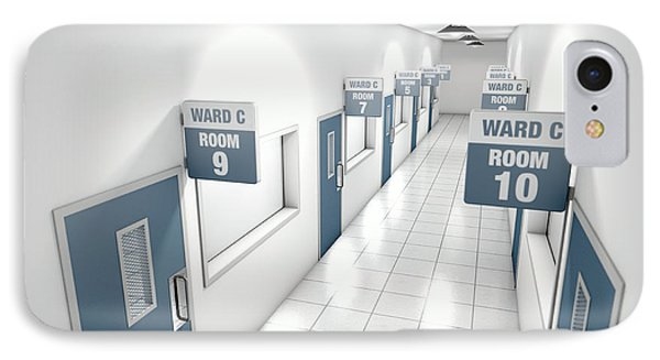 Hospital Hallway IPhone Case by Allan Swart