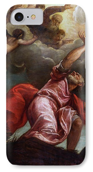 Saint John The Evangelist On Patmos IPhone Case by Titian