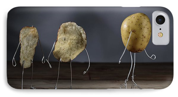 Simple Things - Potatoes IPhone Case by Nailia Schwarz