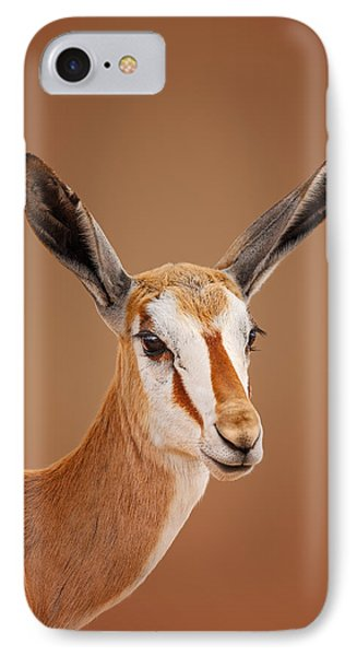 Springbok Portrait IPhone Case by Johan Swanepoel