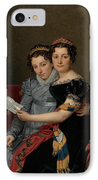 The Sisters Zenaide And Charlotte Bonaparte IPhone Case by Jacques-Louis David