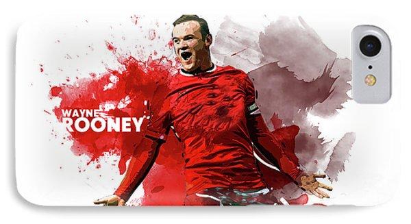 Wayne Rooney IPhone 7 Case by Semih Yurdabak