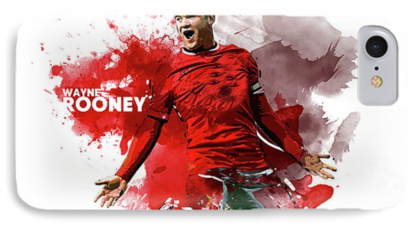 Wayne Rooney IPhone Case by Semih Yurdabak