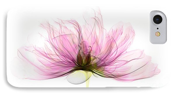X-ray Of Peony Flower Phone Case by Ted Kinsman