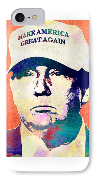 Donald Trump 2016 Presidential Candidate IPhone 7 Case by Elena Kosvincheva