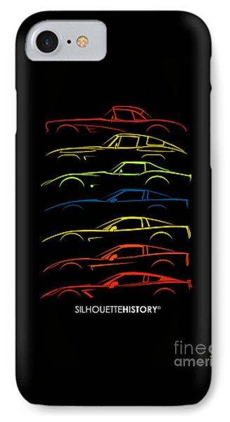 American Sports Car Silhouettehistory IPhone Case by Gabor Vida