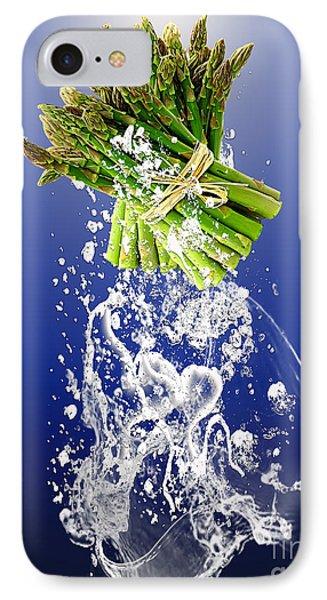 Asparagus Splash IPhone Case by Marvin Blaine