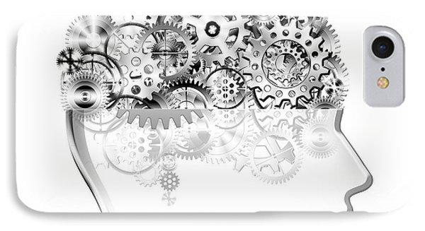 Brain Design By Cogs And Gears Phone Case by Setsiri Silapasuwanchai