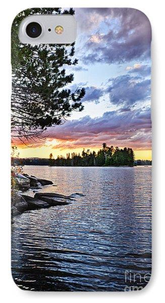 Dramatic Sunset At Lake IPhone Case by Elena Elisseeva